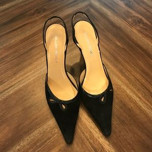 Ellen Tracy Black sling back heels